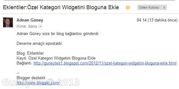 Blog yayınınlarını e-posta eklentisi ile gönder