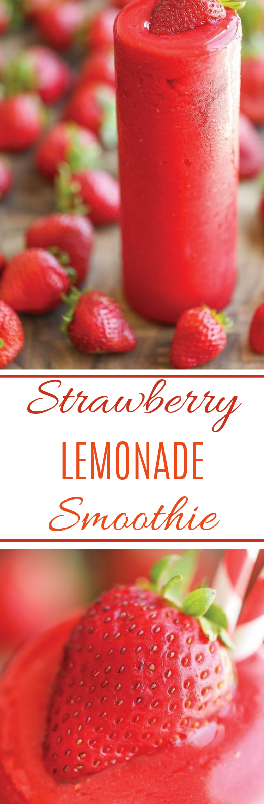 Strawberry Lemonade Smoothie #summer #drinks