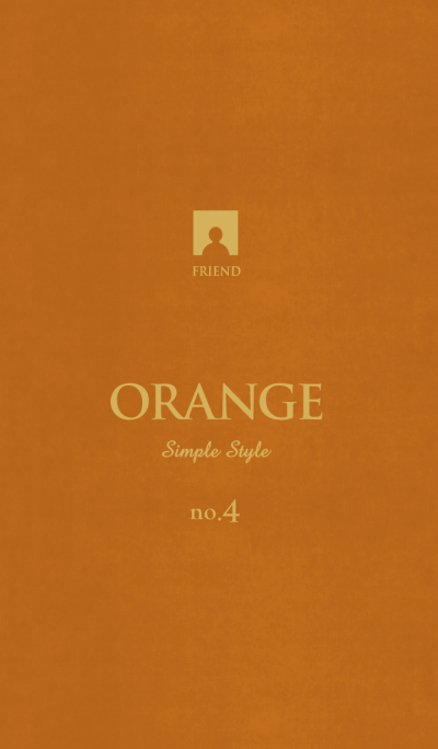 Simple Style -ORANGE- no.4