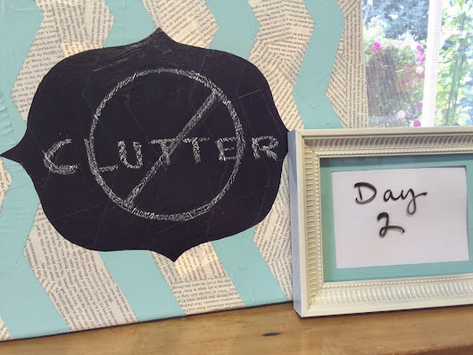 Clutter Free Challenge Day 2: Entryway (and confession)