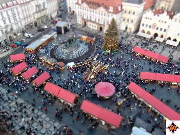 Praga, Piazza della Città Vecchia durante i Mercatini di Natale