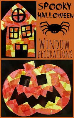 How to make spooky Halloween window decorations
