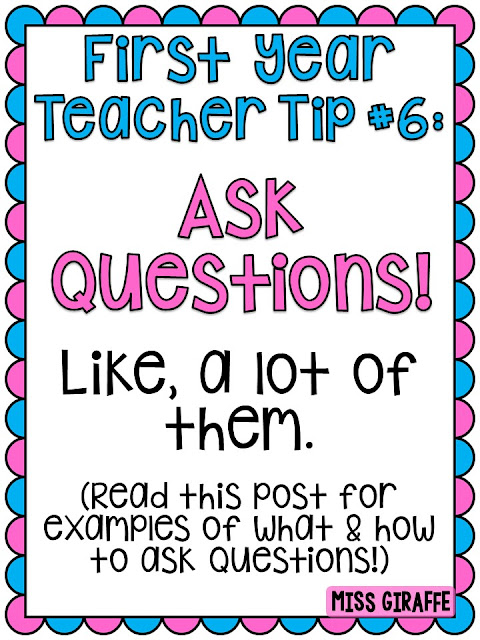 First year teacher tips and advice galore!
