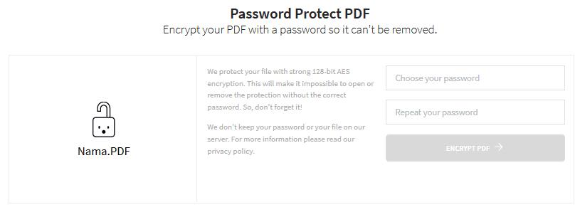 Cara mengunci PDF