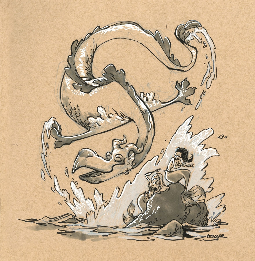 08-Flaarix-the-Mischevious-Brian-Kesinger-Drawings-that-Show-the-Kinder-Side-of-Dragons-www-designstack-co