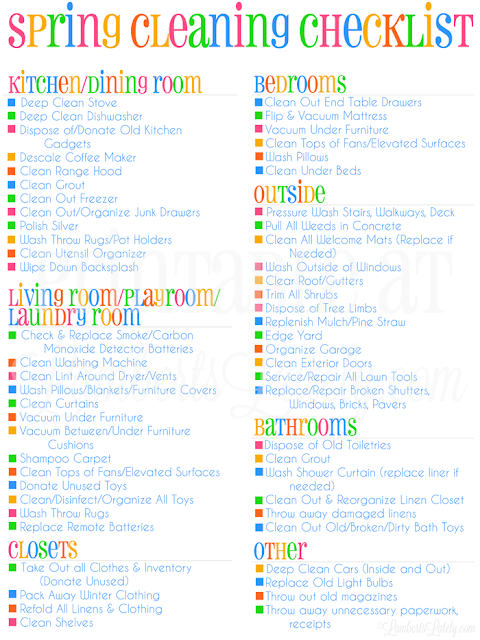 Wonderful This Is An Awesome Checklist For Spring Cleaning Or Deep Cleaning Your  Home! She Even