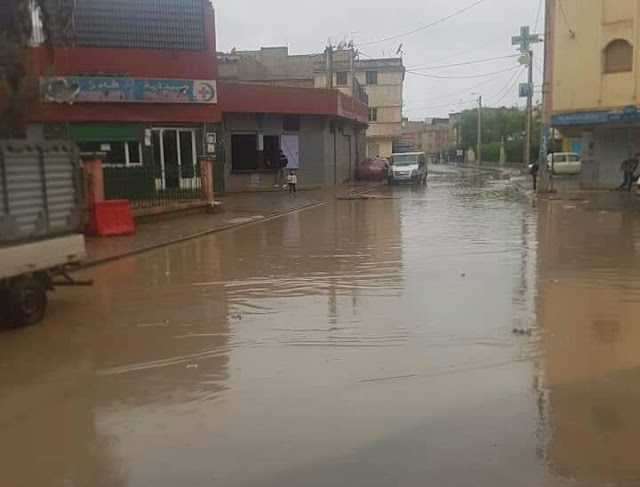 الأمطار تظهر ضياع 3 ملايير و 200 مليون في صفقة التطهير بالحي الحسني