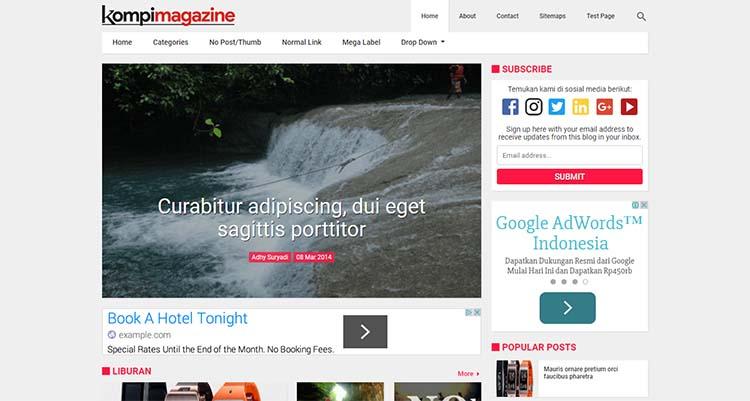 Kompi Magazine Premium Blogger Template