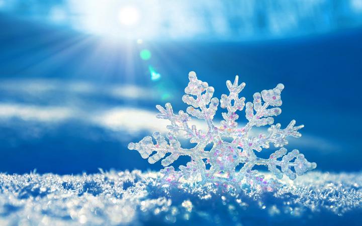 kış resimleri kar taneli