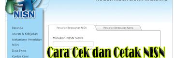 Cara Cek dan Cetak NISN Secara Online