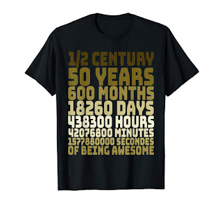 50 Years Old 50th Birthday Vintage Retro T Shirt