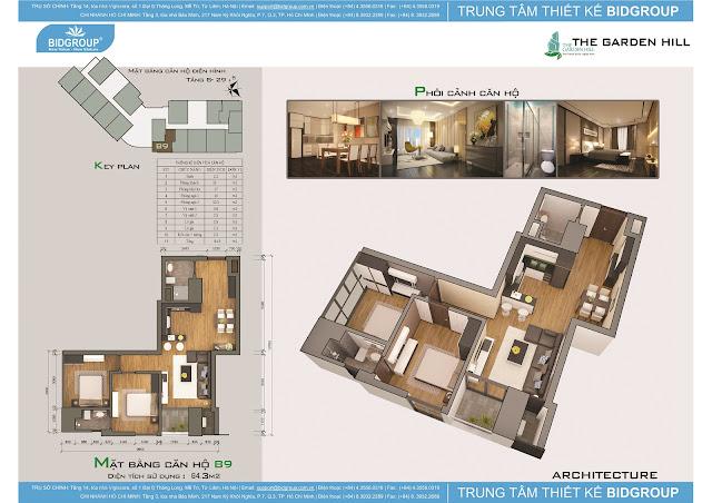 Căn hộ B8 tầng 8-29, diện tích 84m2