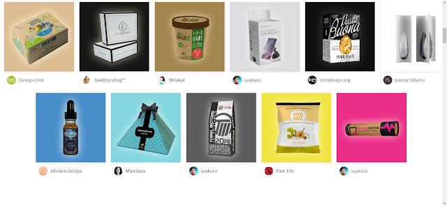 katalog packaging design atau mockup dari 99designs.com