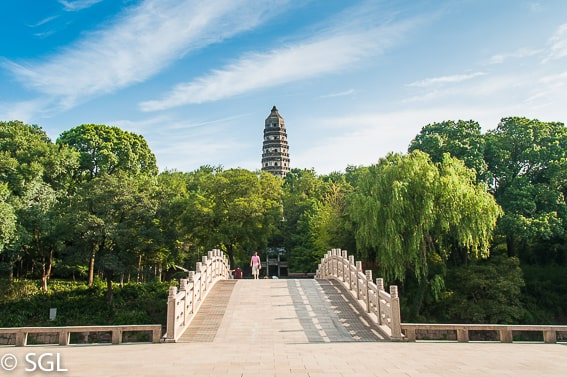 Suzhou, entrada a la colina del tigre. China