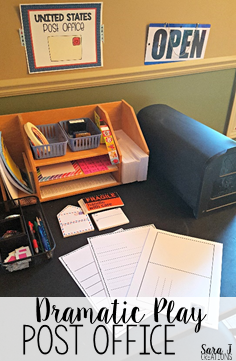 Tips for teaching a letter writing unit in the classroom.  It can be as basic as a dramatic play area for young learners!
