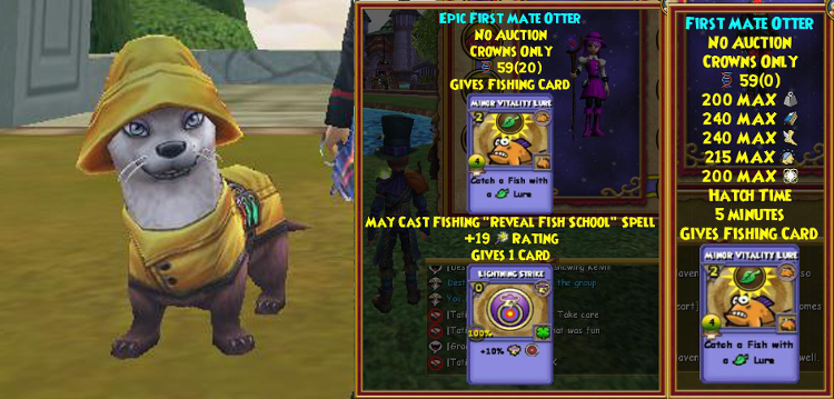 Wizard101 Mystic Fishing Bundle Otter Pet