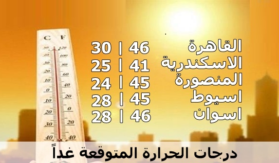 """إستمرار ارتفاع """"درجات الحرارة"""" غدا الاثنين 16-5-2016 والارصاد الجوية تستمر في تحذيراتها للمواطنين واعلان موعد انكسار الموجة الحارة"""