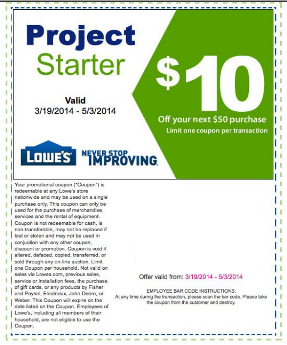 Lowes Coupons 2014 Free printable coupons: lowes home improvement ...