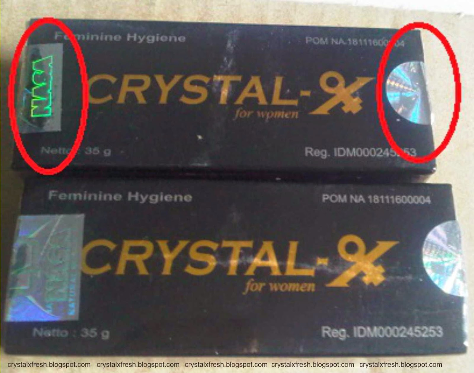 gambar crystal x kemasan lama