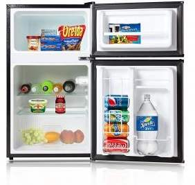 Avalon By Keyton A1-31CFDDBLK Refrigerator And Freezer With Double Doors