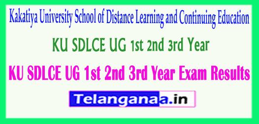 KU SDLCE UG 1st 2nd 3rd Year Exam Results