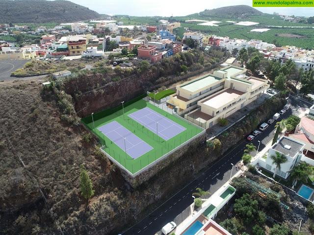 El Ayuntamiento invierte 200.000 euros en la construcción de las nuevas pistas de tenis de Los Llanos de Aridane