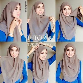 Tutorial hijab pashmina simple tanpa ninja untuk sehari-hari
