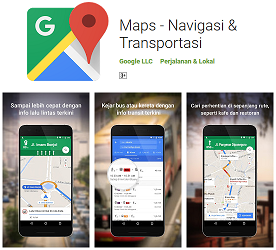 Aplikasi Navigasi Terbaik Google Maps