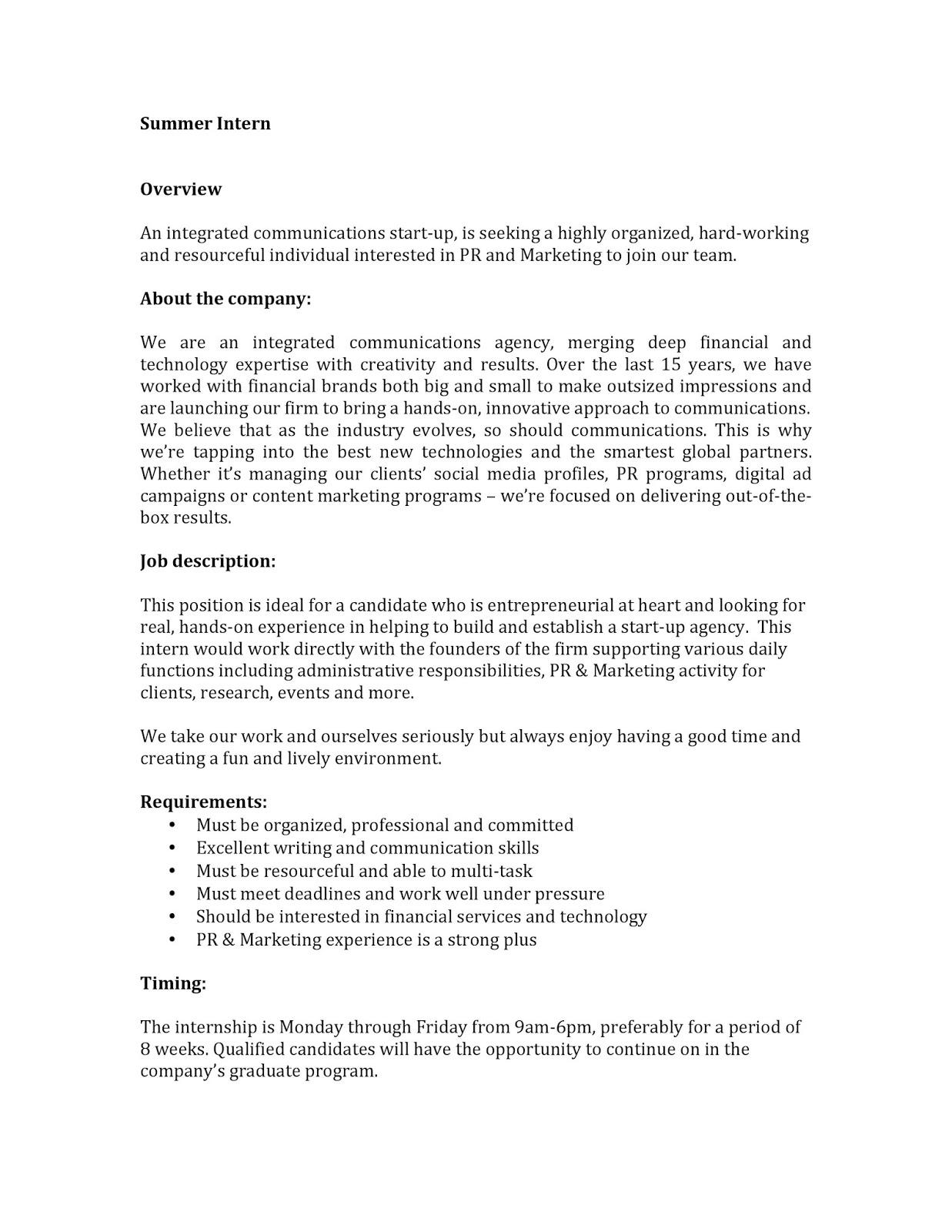 Vested - Summer Internship