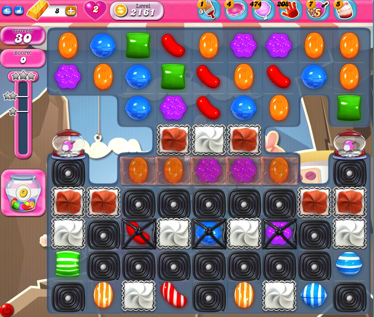 Candy Crush Saga level 2161