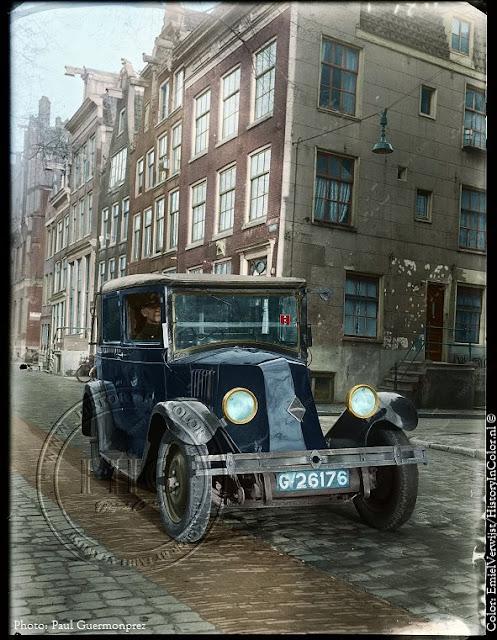 Ingekleurde foto Amsterdam Leidsegracht