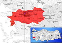 Efeler ilçesinin nerede olduğunu gösteren harita