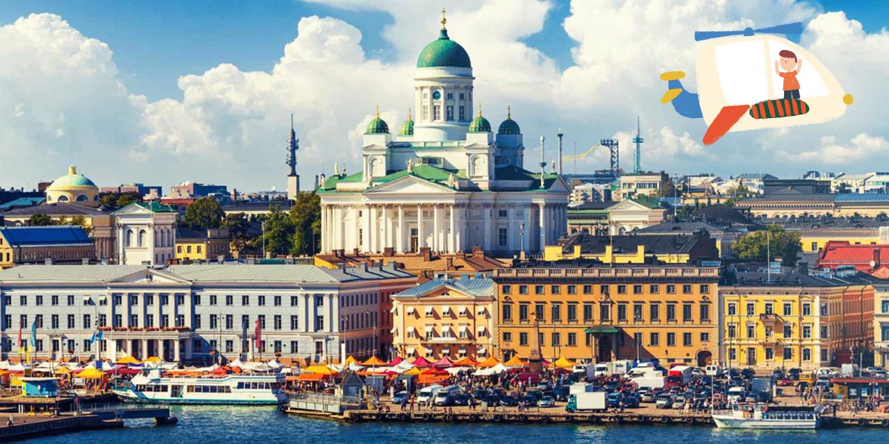 Helsinki com crianças