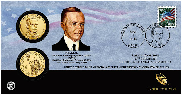 President Calvin Coolidge 2014 One Dollar Coin Cover
