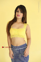 Cute Telugu Actress Shunaya Solanki High Definition Spicy Pos in Yellow Top and Skirt  0110.JPG