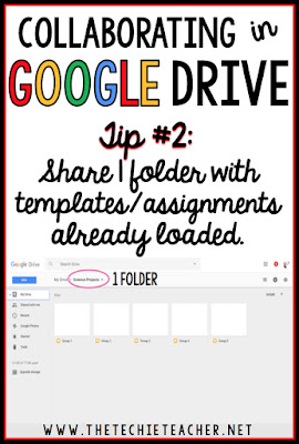 5 ways to avoid disasters when students are collaborating in Google Drive. Tip #2: Share 1 folder with templates/assignments already loaded