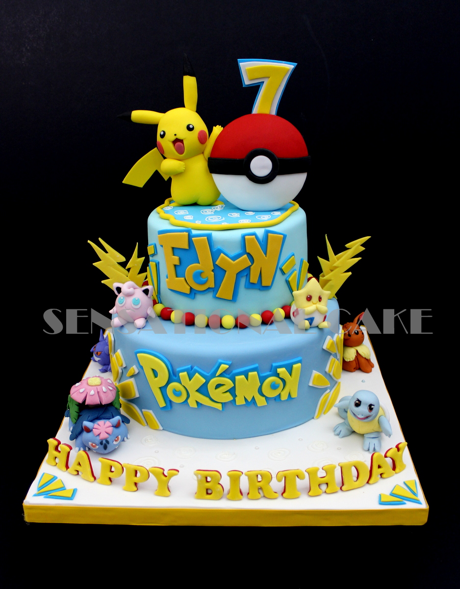 The Sensational Cakes Pikachu Pokemon 3d 2 Tier Cake