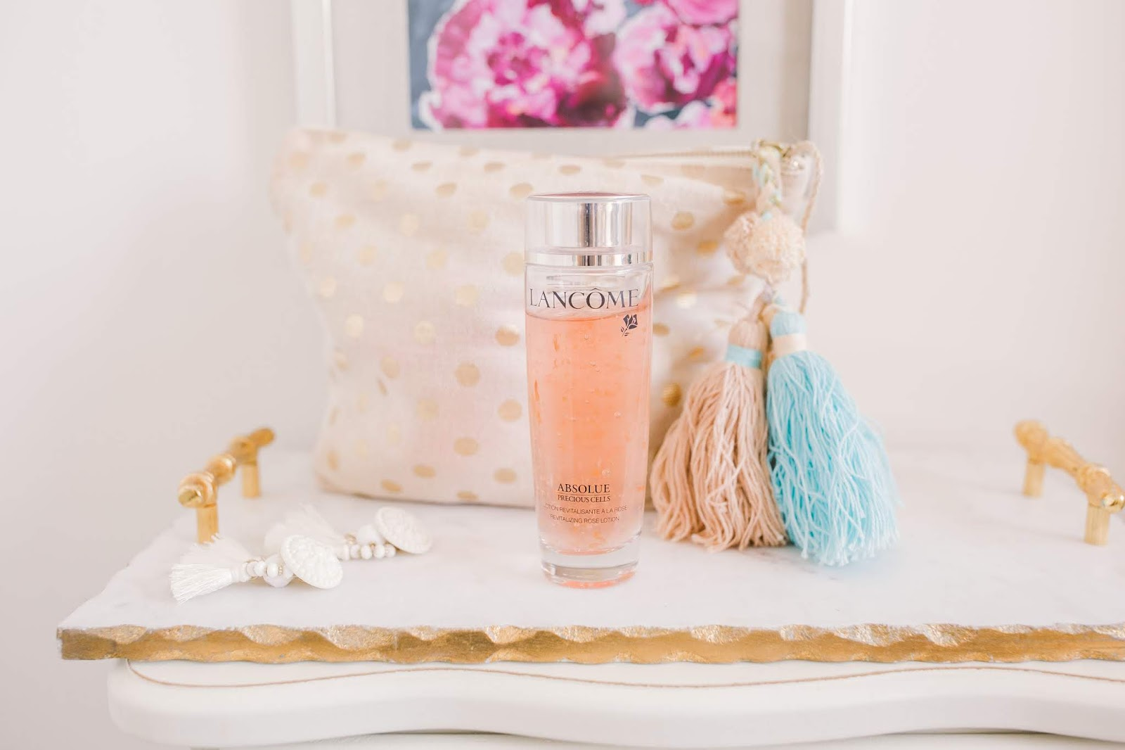Bijuleni - 5  Products I use to Maintain My Skin Clear of Acne - Absolue Precious Cells Revitalizing Rose Lotion LANCÔME