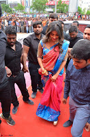 Puja Hegde looks stunning in Red saree at launch of Anutex shopping mall ~ Celebrities Galleries 148.JPG