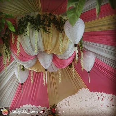 Lampion Dekorasi Pernikahan Unik