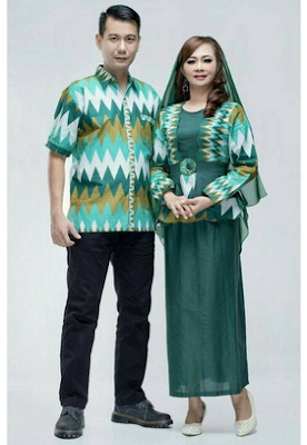 Dress sarimbit untuk lebaran pasangan pria wanita
