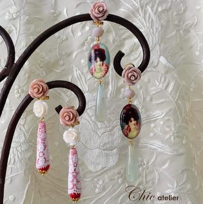 Pendientes de flamenca, complementos de moda hechos a mano.