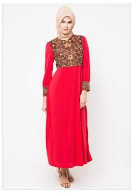 Kreasi Model Baju Gamis Muslim Bordir Modern Terbaru