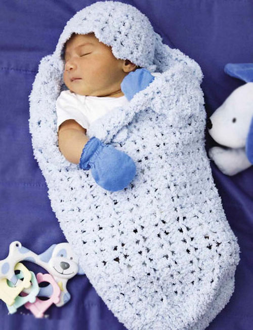 Beautiful Skills Crochet Knitting Quilting Baby Cocoon Hat