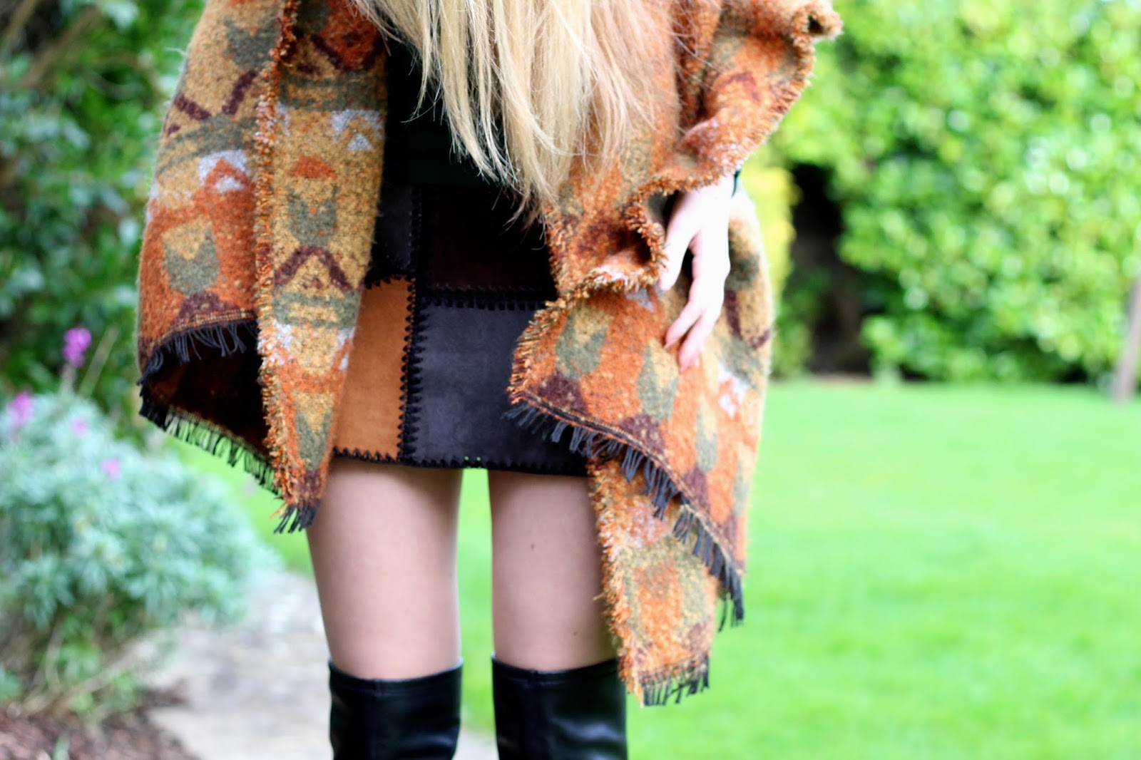 zara blanket scarf brown orange