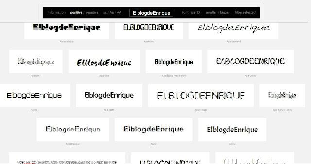 Obtén la vista previa de todas tus tipografías instaladas en tu computadora o laptop