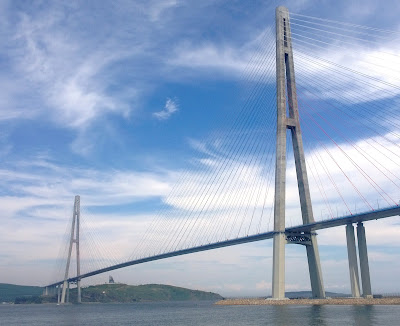 Jembatan Russky Island, Russia
