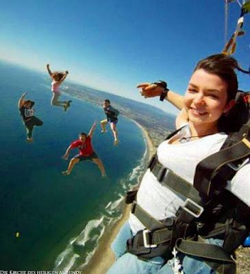 Lustige Fallschirmspringer ohne Fallschirm Picdump witzig