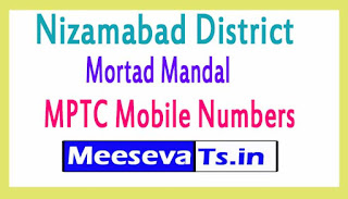 Mortad Mandal MPTC Mobile Numbers List Nizamabad District in Telangana State