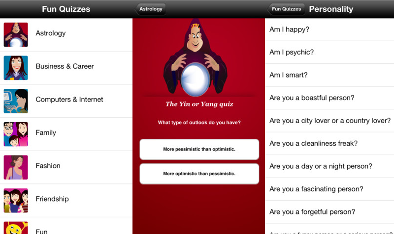 Fun Personality Quizzes For Iphone App Review Apps